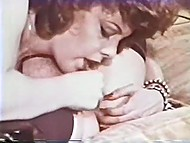 Scenes of lesbian dirty games with fluffies and sex toys in vintage Danish porn 10