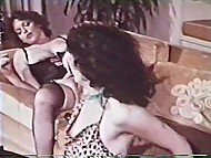 Scenes of lesbian dirty games with fluffies and sex toys in vintage Danish porn 11