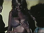Scenes of lesbian dirty games with fluffies and sex toys in vintage Danish porn 5