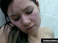 Friends returned from walking and began petting in shower bringing each other to climaxes 4