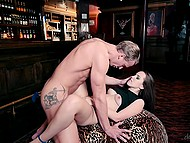 After bar closure, slender female gave blowjob and pussy to handsome administrator on a dare 8