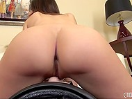 Slender Tiffany Tyler doesn't use usual toys, she prefers to satisfy herself with fucking machine 6