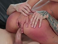 Good-looking babe put fingers in the asshole to receive even more thrills during hot fuck 11