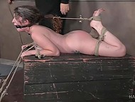 Curly-haired slave with giant breasts remains powerless after BDSM session of perverted male 10