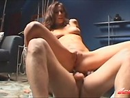 Energetic fingers and hot dick were needed to bring enchanting girl heavenly delight 5