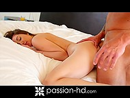 Bringing juice to his girlfriend in bed guy decides to begin their day with passionate morning sex 10