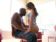 Petite colleen in fashioned lingerie easily made handsome black macho excited 5