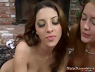 Two sensitive holes, hungry of loneliness, lashes out on their friend with hard tool 5