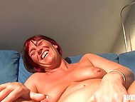 Mature woman wants to relax sometimes and she brings vibrator into play at such moments 10