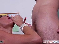 Busty teacher holds an additional lesson with underachieving guy which ends with a hot sex 6