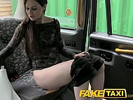 Taxi driver blackmailed rich bitch Tina Kay to suck his cock and let him fuck her in the rear seats 4