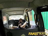 Taxi driver blackmailed rich bitch Tina Kay to suck his cock and let him fuck her in the rear seats 5