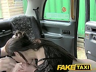 Taxi driver blackmailed rich bitch Tina Kay to suck his cock and let him fuck her in the rear seats 7