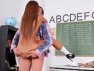 Horny schoolgirl Alexis Brill had to seduce teacher because she was not allowed to masturbate at the lessons 7