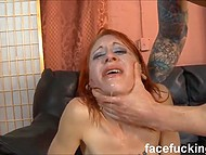Red-haired Metal Kitty turned out to be a real whore who can be fucked in mouth roughly and double penetrated 4