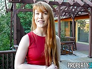 Gorgeous real estate agent is ready to do everything in order to sell this house to client 3