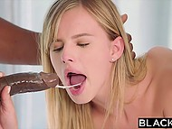 Lad watches black producer fucking his sweetheart Kendra Sunderland and her girlfriend Jillian Janson 8