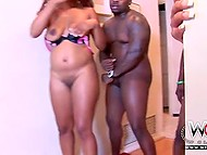 Black guys participate in group sex with their Ebony chicks that really enjoy those schlongs 7