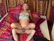 Beautiful girl knew how to make partner excited looking forward to hot sex in the comfortable bedroom 6