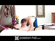 Excited beauty wanted paramour to tie and own her and he fulfilled her desire 9