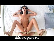 Brunette wants to believe that casting is just a beginning of her successful porn career