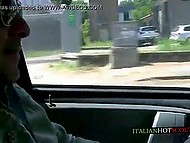 Bald buddy took a drive to the place of Italian mature with sunglasses to receive nice blowjob 6