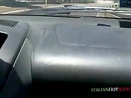 Bald buddy took a drive to the place of Italian mature with sunglasses to receive nice blowjob 7
