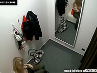 Hidden cameras recorded young Czech with beautiful figure trying on dresses and bras 4