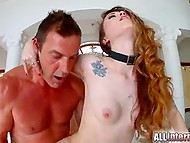 Fucker penetrated asshole of long-legged Polish slut Misha Cross from behind 7