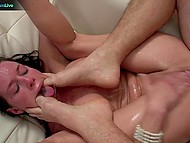 Wild pornstar Veronica Avluv deepthroats buddy's cock like pro and fucks like crazy bitch 11