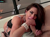 Wild pornstar Veronica Avluv deepthroats buddy's cock like pro and fucks like crazy bitch 4