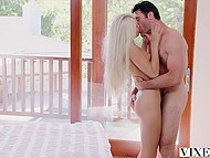 Tricky insatiable blonde using lucky possibility seduces her attractive landlord 5