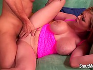 Busty Katie Kox doesn't miss opportunity of riding hard dick of her new boyfriend 10
