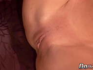 Eccentric old guy along with his friend are watching how his wife is getting satisfied by young lover 8
