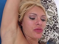 Hot Russian blonde with big tits is having sex with guy extracting all sperm from his dick in the end 5