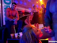 Private party in prestigious night club suddenly transforms into a wild orgy with all sexy babes 10