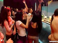 Private party in prestigious night club suddenly transforms into a wild orgy with all sexy babes 8
