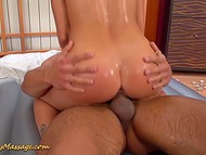 For helping her in repairing the car petite masseuse is ready to give a special massage to guy 8