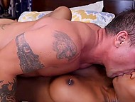 Muscular lovelace arranged the first-class sex with stacked black cutie in the bedroom 9