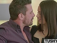 Lana Rhoades finished her work earlier to help girlfriend Penny Pax with pleasing insatiable customer 5