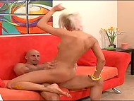 Bald bloke distracted astounding painter while she was making a new body-art 4