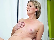 Young employee has to fuck his mature headmistress in order to receive cherished promotion 10