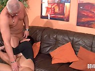 During swinger party mature couple is left alone in the room and has a nice sex 6