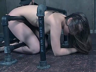 Innocent brunette Nora Riley gets into the subterranean where she is punished hard