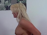 Well-shaped blonde has a good time along with her experienced inamorato and his vibrator 4
