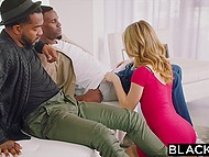 Lustful beauty distracted black guys from talking to arrange an unforgettable group sex 3