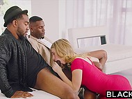 Lustful beauty distracted black guys from talking to arrange the long-awaited group sex 4