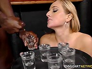 There were so many black guys that cutie was looking forward to take part in severe group sex 9