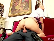 Attractive student receives excellent marks by having anal sex with headmaster 5