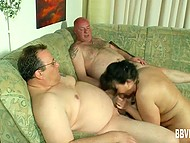 Mature couple welcomed a family friend and that meeting turned into passionate threesome 4